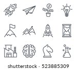 start up business outlined line ... | Shutterstock .eps vector #523885309