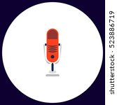 microphone icon vector. flat... | Shutterstock .eps vector #523886719