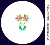 flowers icon vector. flat... | Shutterstock .eps vector #523887451