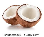Coconuts Isolated On The White...