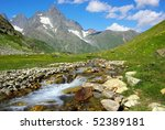 mountain landscape with river | Shutterstock . vector #52389181