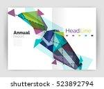 geometric annual report... | Shutterstock .eps vector #523892794