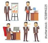 businessman in various... | Shutterstock . vector #523894225