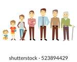 men generation at different... | Shutterstock . vector #523894429