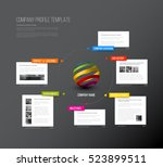 vector company infographic... | Shutterstock .eps vector #523899511