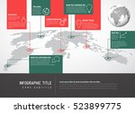 light world map with pointer... | Shutterstock .eps vector #523899775