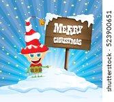 vector cartoon cute merry...   Shutterstock .eps vector #523900651