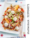 salad with bell pepper  chicken ... | Shutterstock . vector #523904071