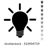 idea   black vector icon and... | Shutterstock .eps vector #523904719