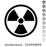 radioactivity   black vector... | Shutterstock .eps vector #523904899
