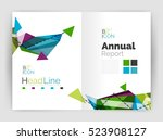 triangles and lines  annual... | Shutterstock . vector #523908127