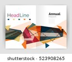 triangles and lines  annual... | Shutterstock . vector #523908265