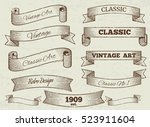 vintage labels and banners... | Shutterstock . vector #523911604