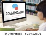 communication service help desk ... | Shutterstock . vector #523912801