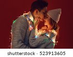 happy young couple in love | Shutterstock . vector #523913605