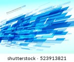 abstract retro technology lines.... | Shutterstock .eps vector #523913821
