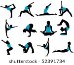 yoga poses | Shutterstock .eps vector #52391734