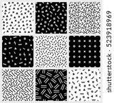 monochrome geometric line... | Shutterstock . vector #523918969