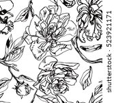 Black And White Floral Pattern...