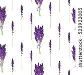 lavender seamless vector...   Shutterstock .eps vector #523922005