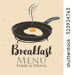 vector banner for a cafe with... | Shutterstock .eps vector #523924765