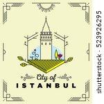 city of istanbul monogram... | Shutterstock .eps vector #523926295