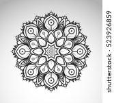 vector abstract flower mandala. ... | Shutterstock .eps vector #523926859
