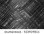 abstract illustration grey... | Shutterstock . vector #523929811