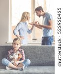 little girl is holding a toy... | Shutterstock . vector #523930435