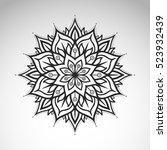 vector abstract flower mandala. ... | Shutterstock .eps vector #523932439