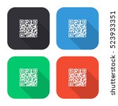 qr code vector icon   colored... | Shutterstock .eps vector #523933351