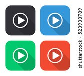 play button vector icon  ... | Shutterstock .eps vector #523933789