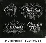 chocolate labels collection in... | Shutterstock .eps vector #523934365