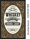 old whiskey label | Shutterstock .eps vector #523939789