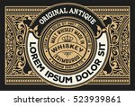 vintage design for labels.... | Shutterstock .eps vector #523939861
