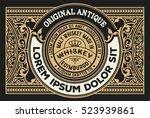 vintage design for labels.... | Shutterstock .eps vector #523939861