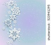 snowflakes winter background | Shutterstock .eps vector #523941295