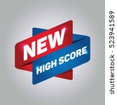 new high score arrow tag sign. | Shutterstock .eps vector #523941589