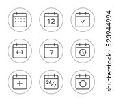 calendar icons vector set. time ...