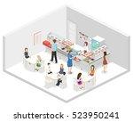 isometric flat 3d concept... | Shutterstock .eps vector #523950241