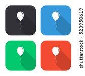 balloon vector icon   colored...   Shutterstock .eps vector #523950619