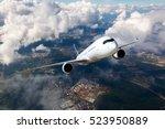 White Passenger Plane Climbs...