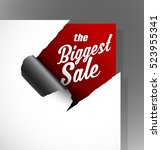 the biggest sale text uncovered ... | Shutterstock .eps vector #523955341
