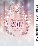 shiny christmas ball for merry... | Shutterstock .eps vector #523958521