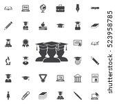 graduate student icon.... | Shutterstock .eps vector #523958785