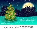 night green background greeting ... | Shutterstock .eps vector #523959601