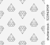 black and white style diamond... | Shutterstock .eps vector #523963939