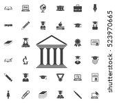 university icon. education set... | Shutterstock .eps vector #523970665