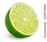 Half Of Lime Citrus Fruit  Lim...