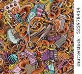 cartoon cute doodles... | Shutterstock .eps vector #523978414